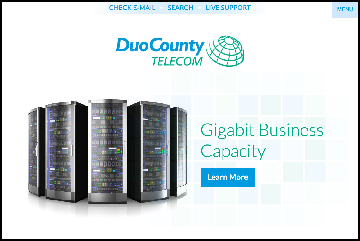 New Duo County Telecom website