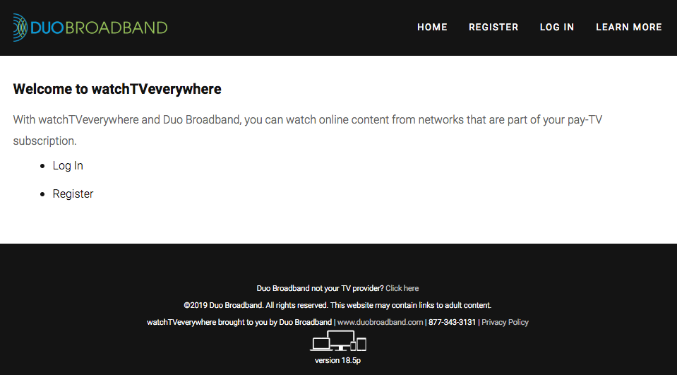 DUO watchTV screen1